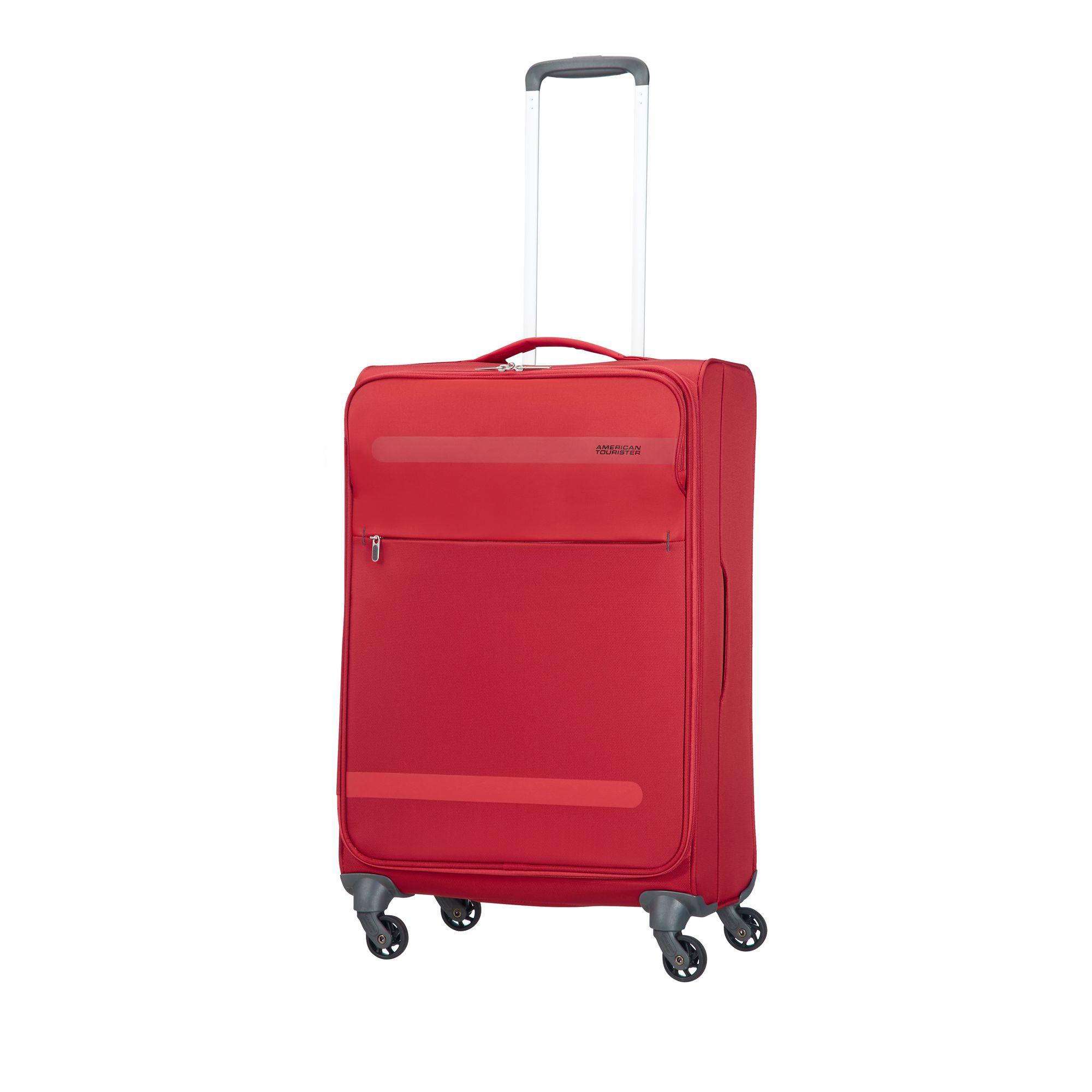 Bilde av American Tourister Herolite Myk Koffert, 4 Hjul, 67 Cm, Rød