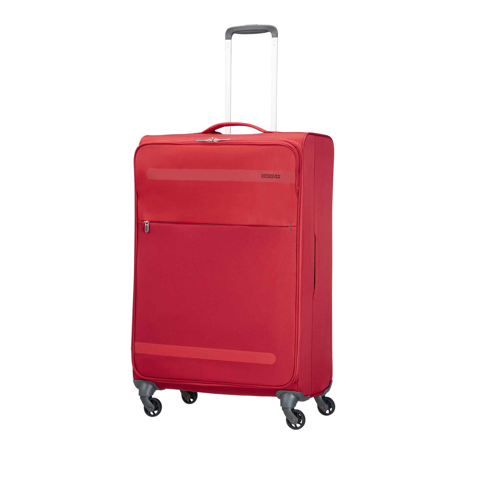 Bilde av American Tourister Herolite Myk Koffert, 4 Hjul, 74 Cm, Rød