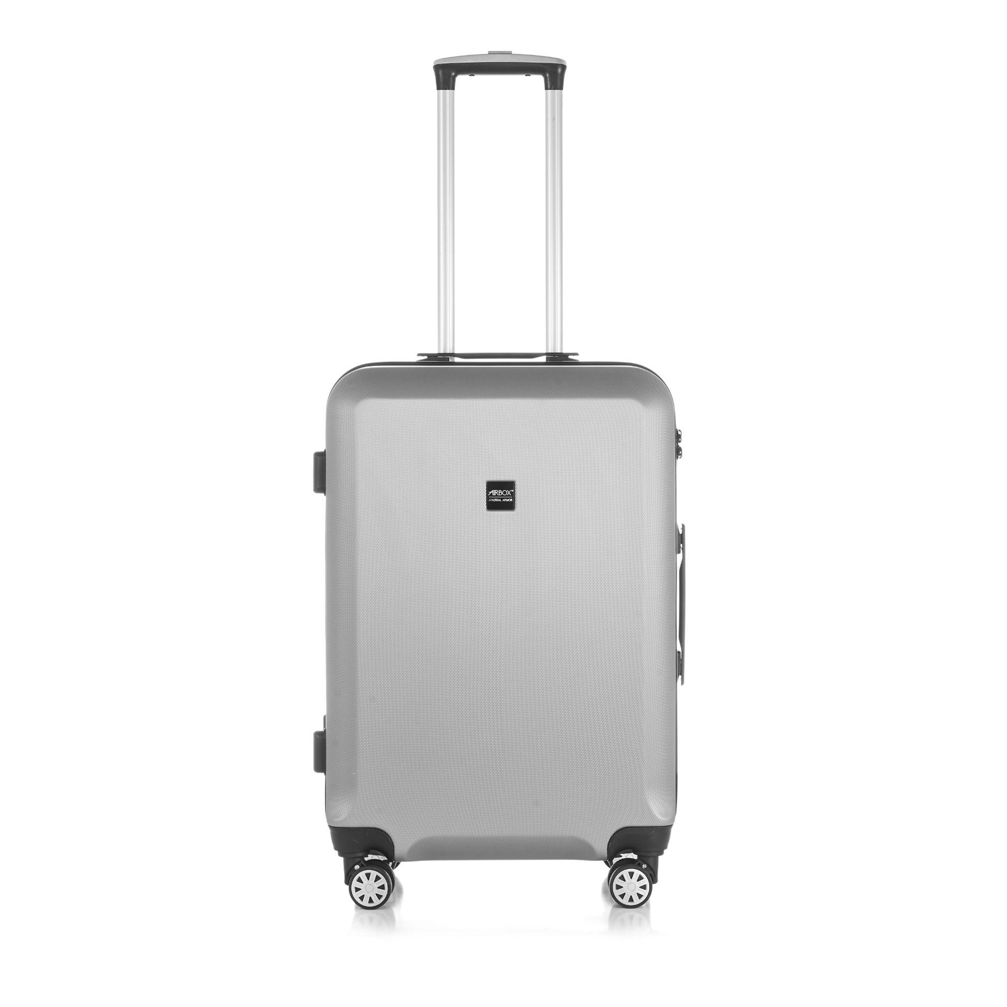 Bilde av Airbox Az8 Hard Koffert Med 4 Hjul, 55/65/75 Cm, Sølv, 65cm