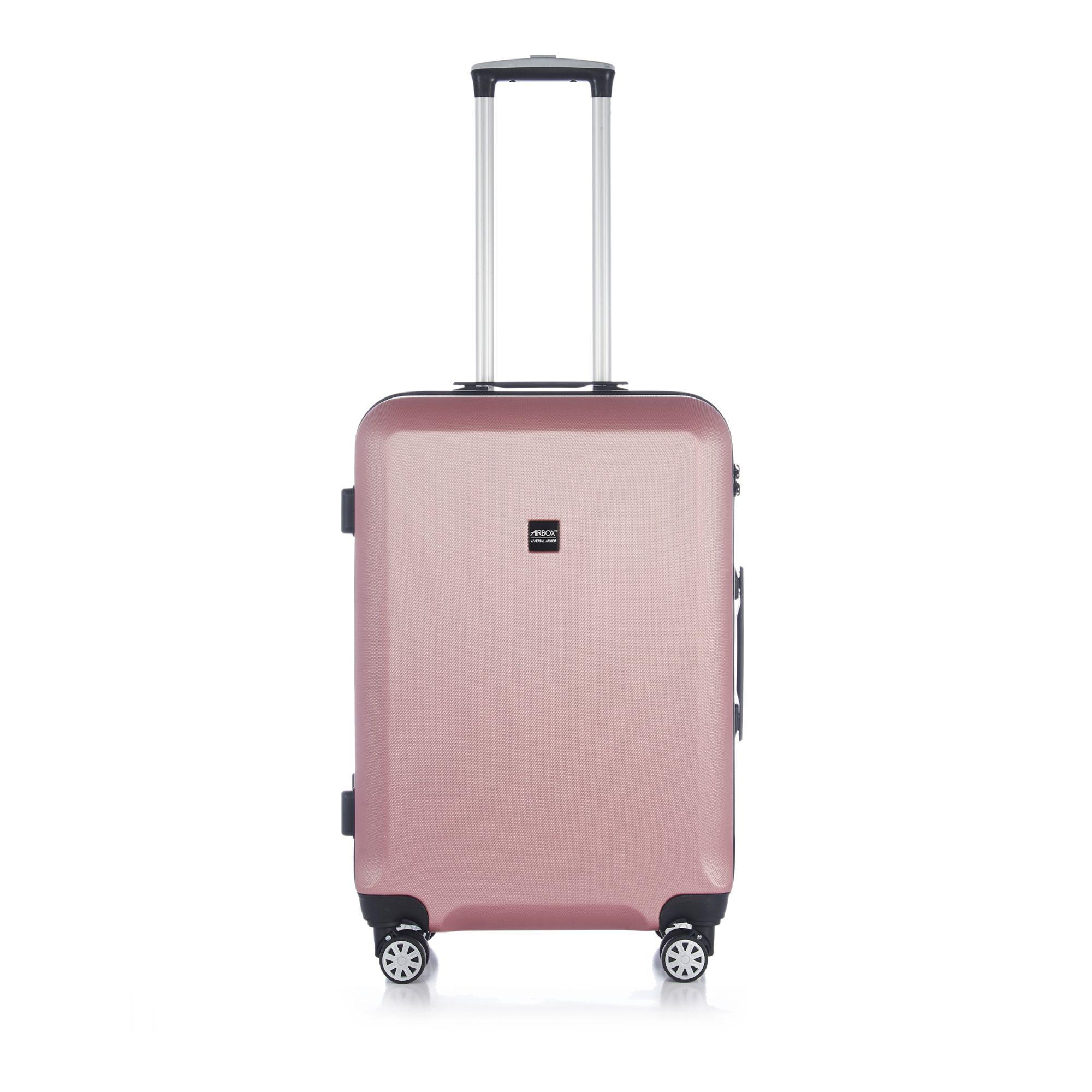 Bilde av Airbox Az8 Hard Koffert Med 4 Hjul, 55/65/75 Cm, Lys Rosa, 65cm