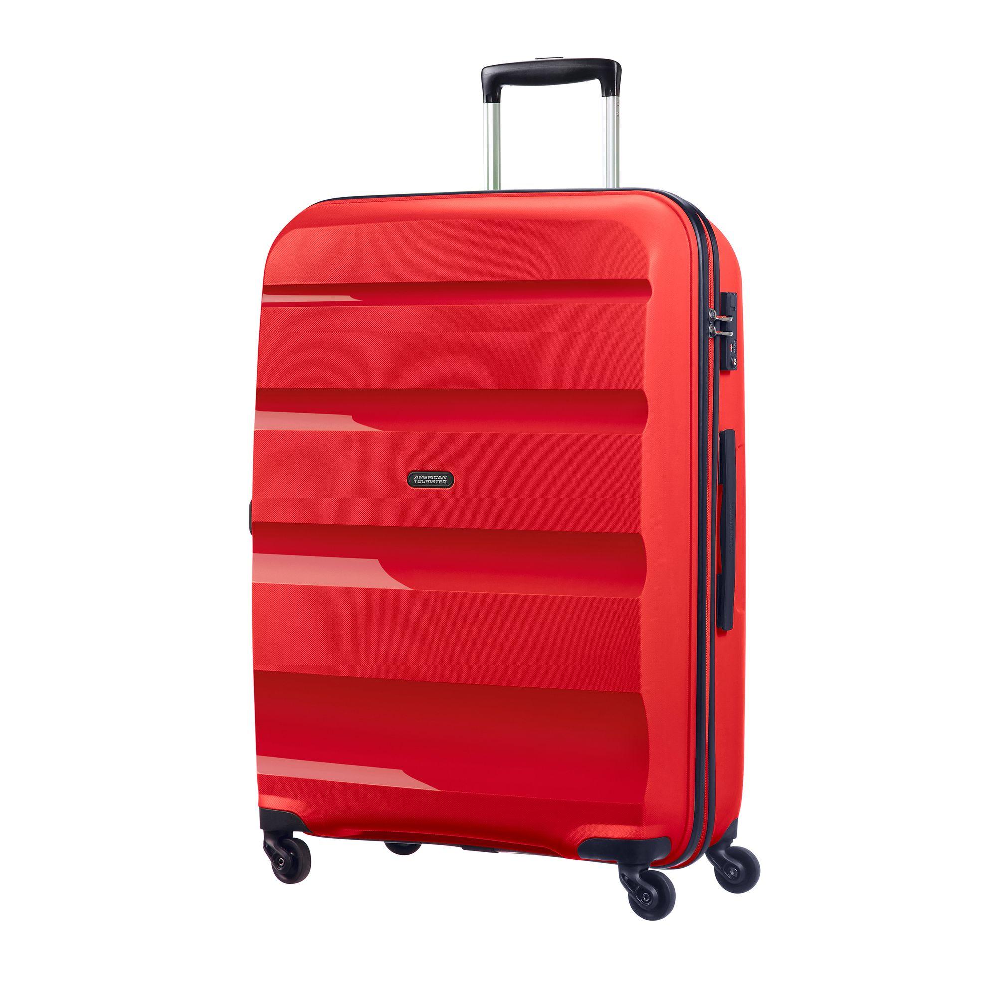 Bilde av American Tourister Bon Air Hard Koffert, 55/66/75 Cm, Rød, 75cm